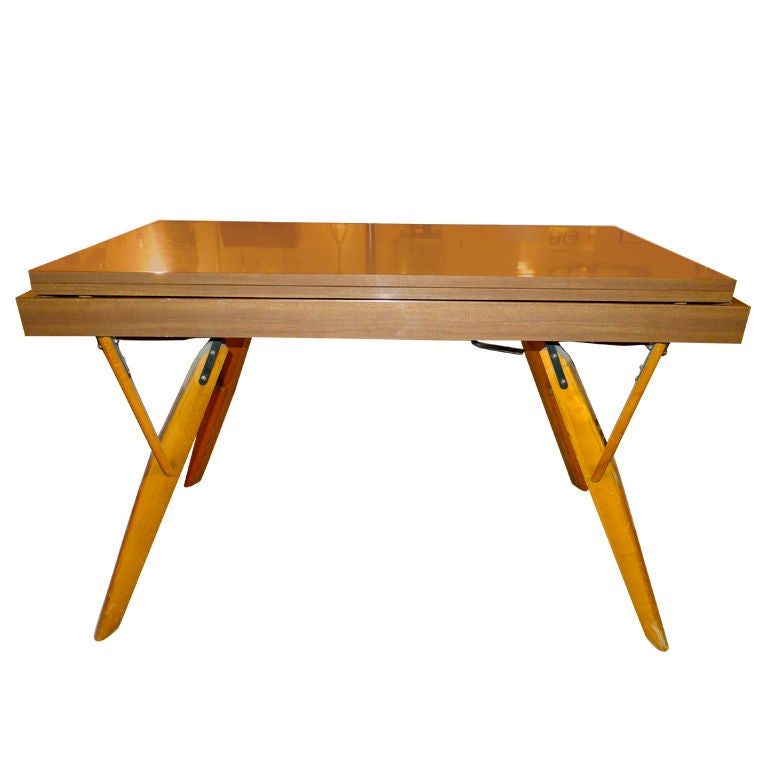 Convertible cocktail console dining table at 1stdibs Console coffee table