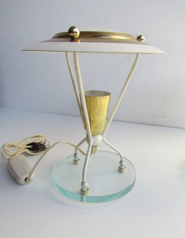 Pair of Petite Italian Boudoir Lamps For Sale 2