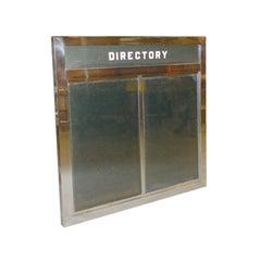 Art Deco Chrome & Glass Skyscraper Tenant Directory Sign