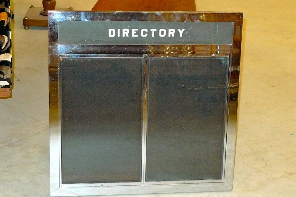 Mid-20th Century Machine Age Skyscraper Tenant Directory For Sale