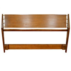 Walnut Queen Size Headboard by Gio Ponti for M. Singer & Sons