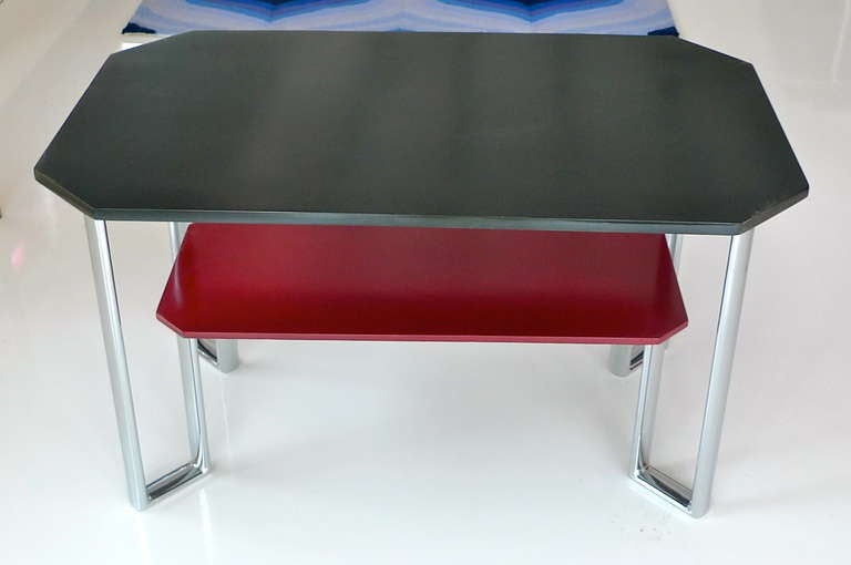 Bauhaus Two-Tier Chromium & Cellulosed Table from Heal and Son, 1931 In Excellent Condition For Sale In Hingham, MA