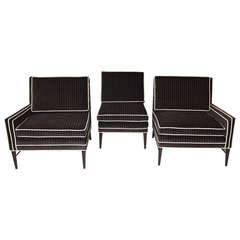Paul McCobb Three Chair Sofa Sectional for Directional by Custom Craft