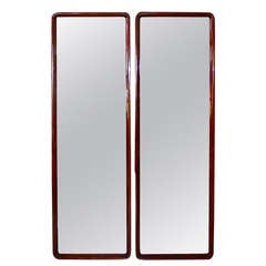 """Augustus"" Italian Ocean Liner Pair of Full Length Mirrors"