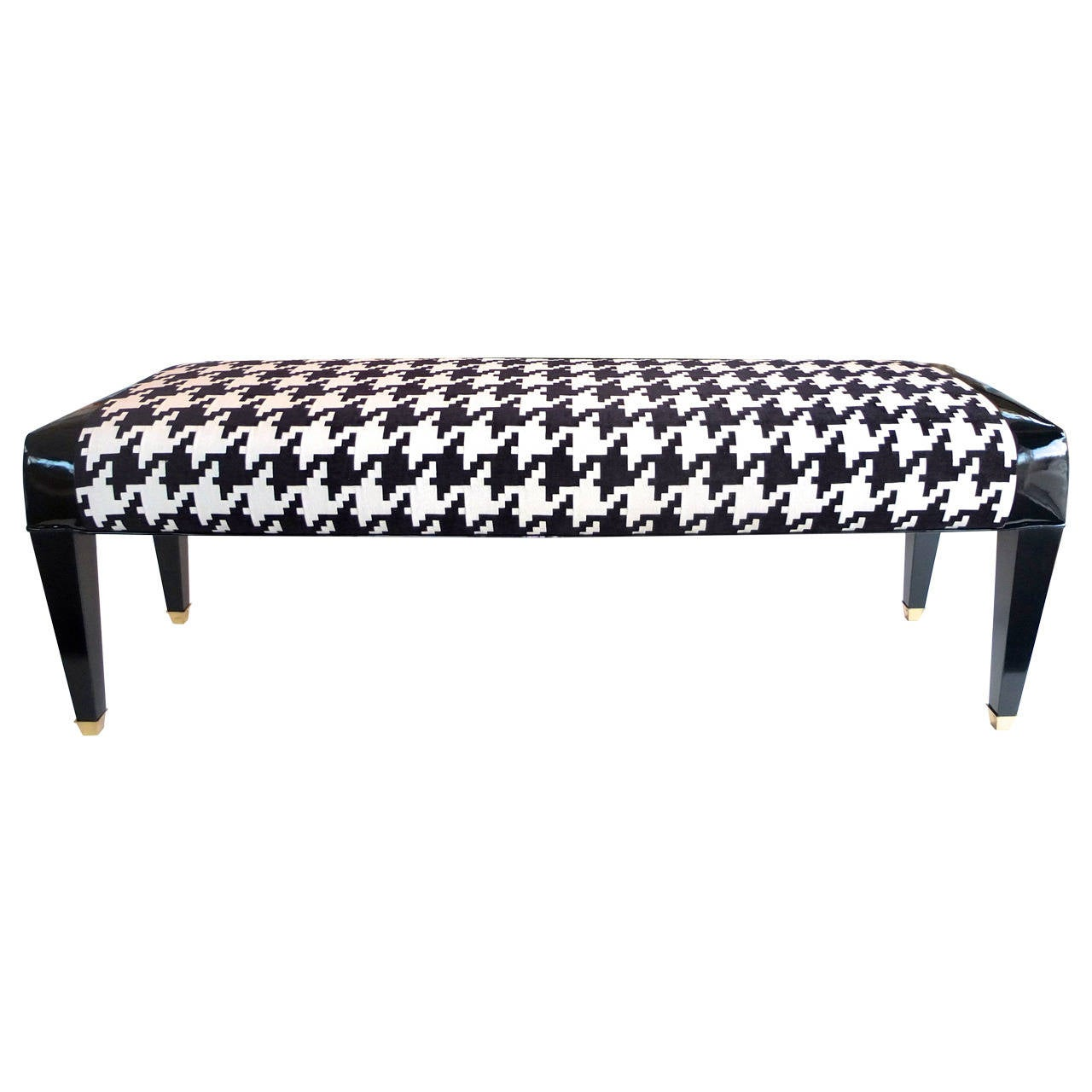 Upholstered modernist long bench for sale at 1stdibs Long upholstered bench
