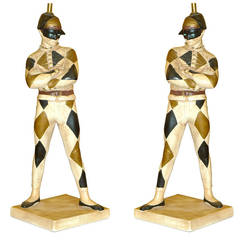 Monumental Pair of Harlequin Lamps by marbro