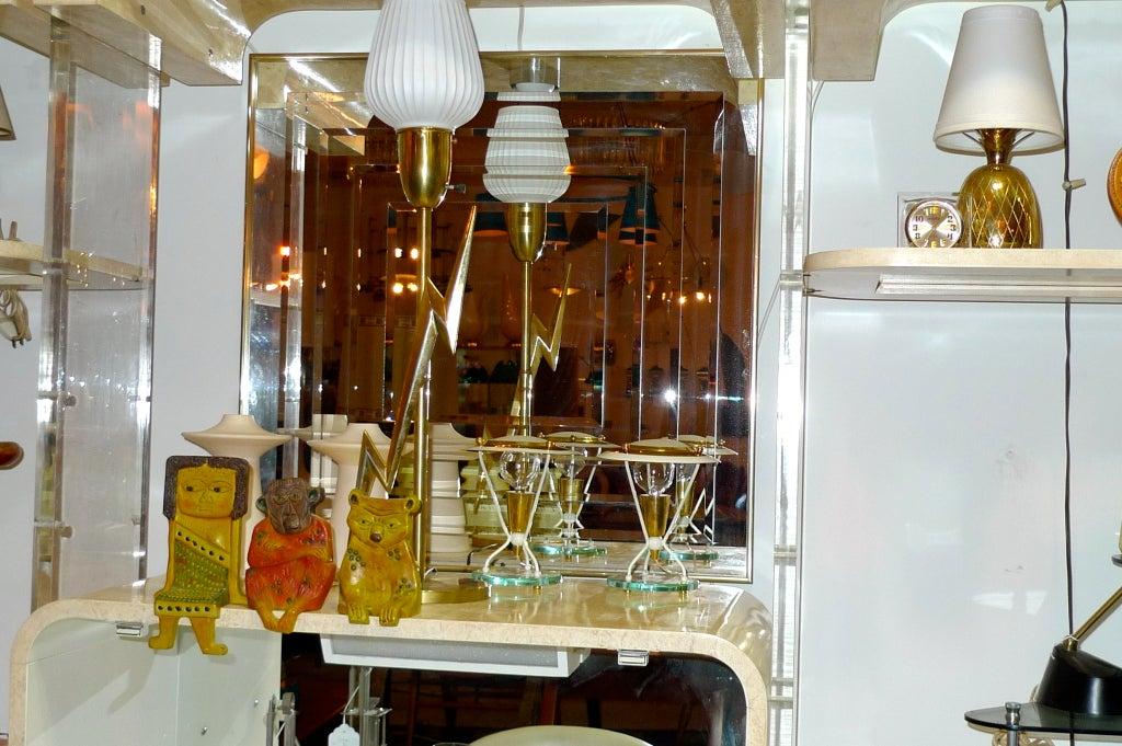 Pair of Petite Italian Boudoir Lamps For Sale 1