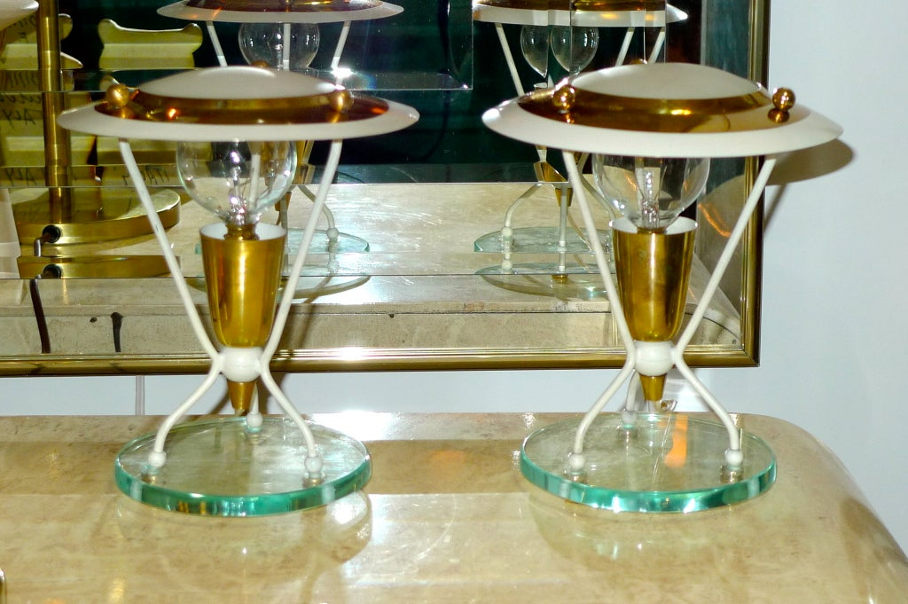 Pair of Petite Italian Boudoir Lamps For Sale 3