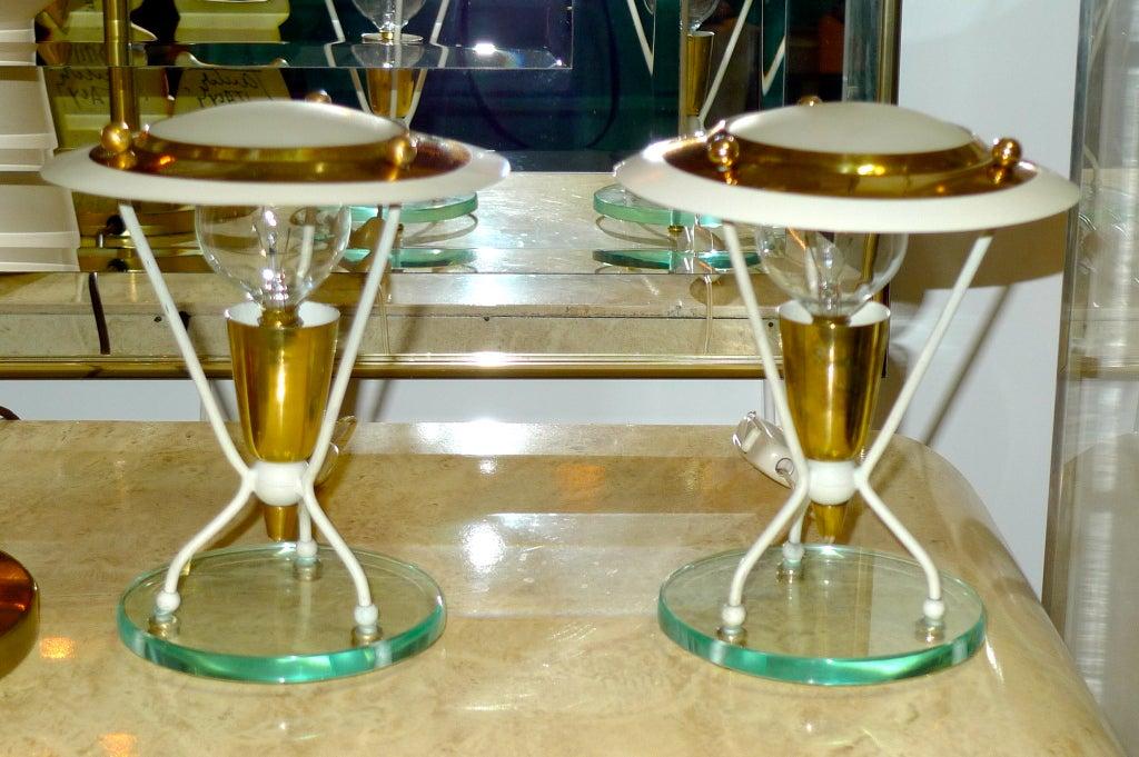 Pair of Petite Italian Boudoir Lamps For Sale 4