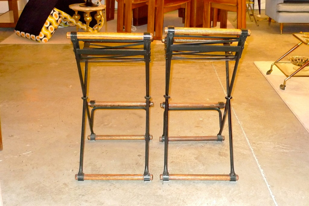 Mid-20th Century Pair of Cleo Baldon Bar Stools For Sale