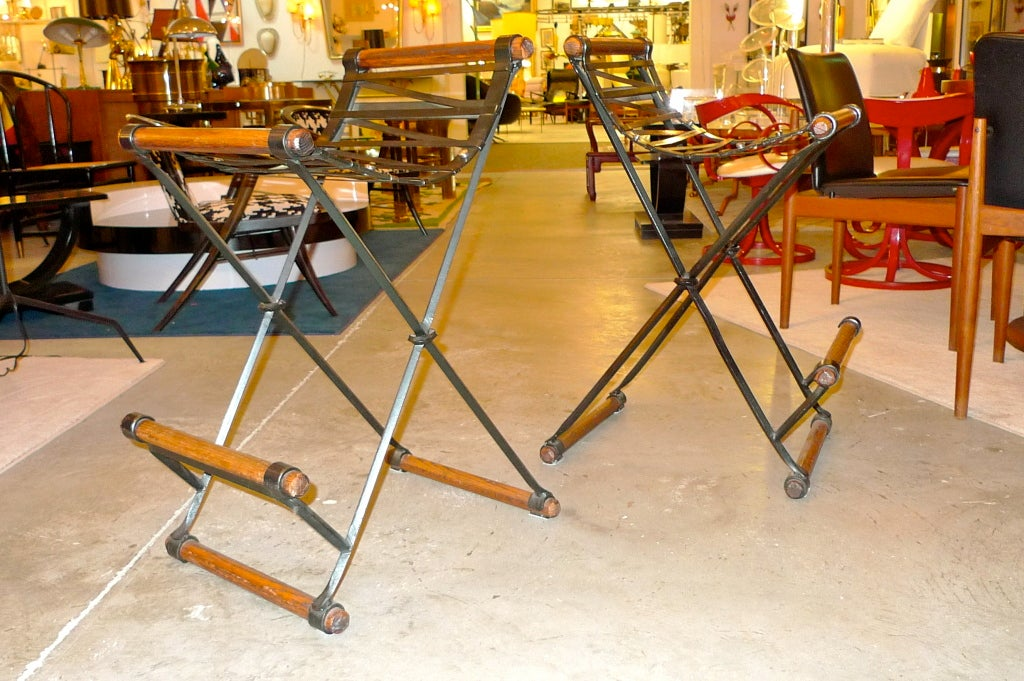Pair of Cleo Baldon Bar Stools For Sale 1