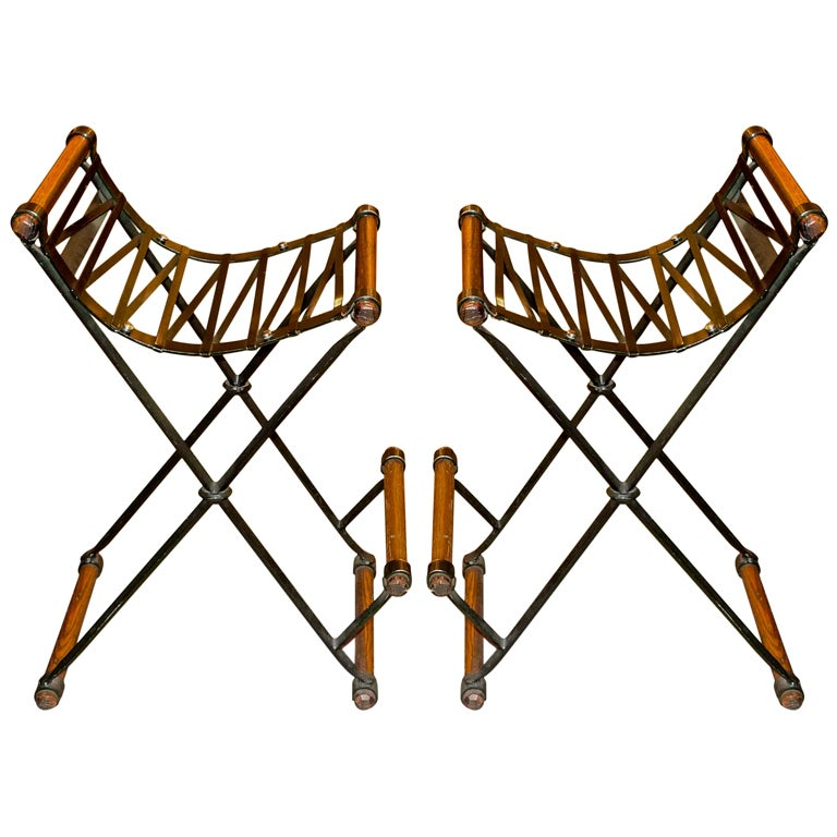 Pair of Cleo Baldon Bar Stools For Sale