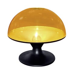 Italian Pop Art Yellow Plastic Dome Lamp