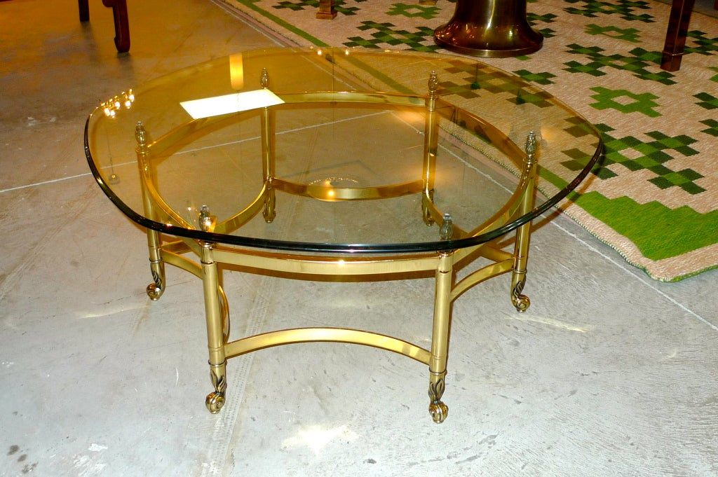 La Barge Brass Hexagonal Cocktail Table For Sale At 1stdibs