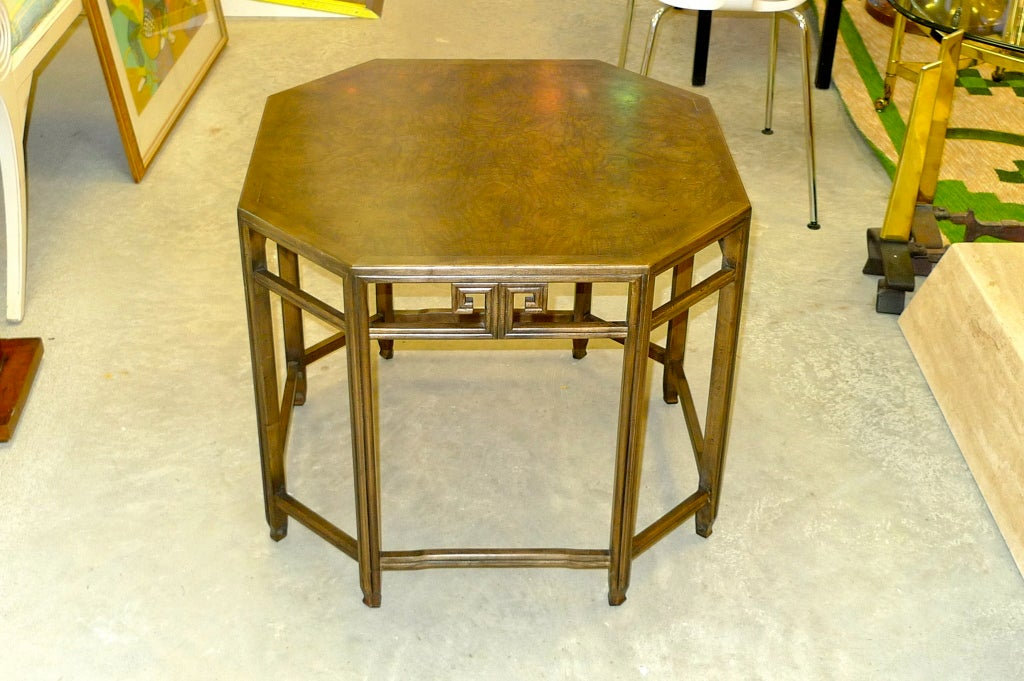 Vintage Baker Octagonal Walnut Lamp Table For Sale At 1stdibs