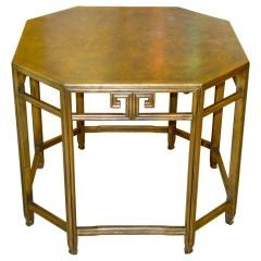 Vintage Baker Octagonal Walnut Lamp Table