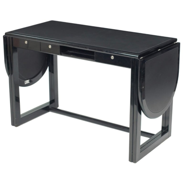 Pozzi & Verga Desk with Leather Top & Drop Sides
