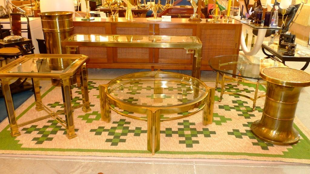Mastercraft Patinated Brass Pedestal Jardiniere For Sale 2