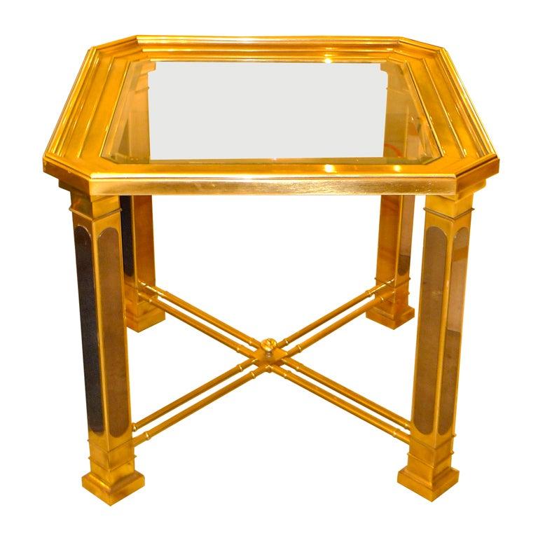 Mastercraft Brass Lamp Table