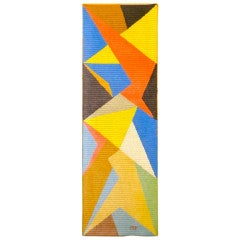 Marcel Picard Abstract Geometric Hand Stitched 'Arlequin'