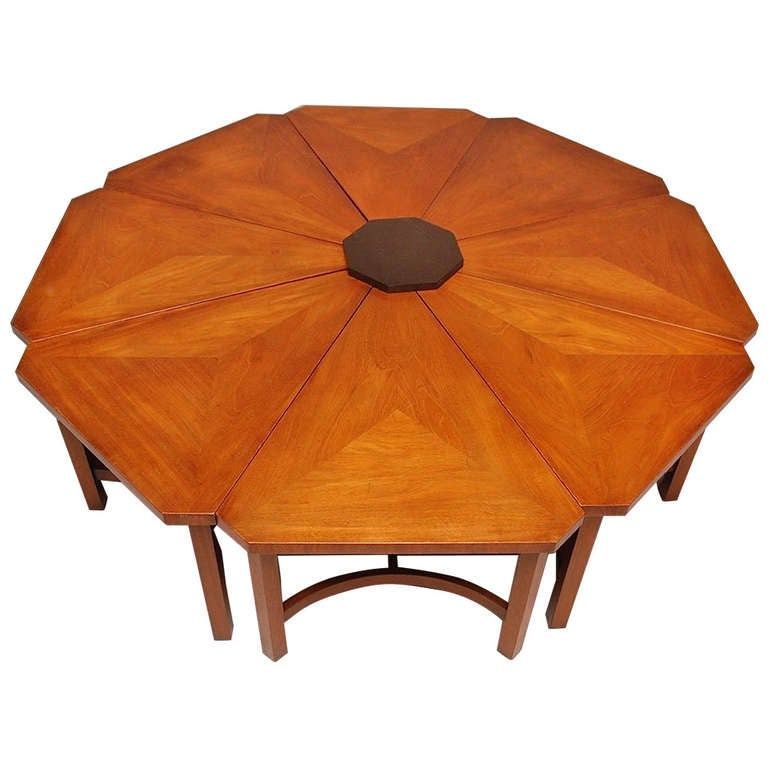 Kittinger eight section cocktail table for sale at 1stdibs for Cocktail tables for sale used