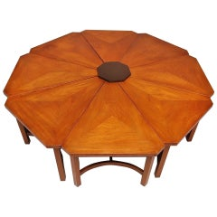 Kittinger Kaleidoscope Eight Wedge Cocktail Table