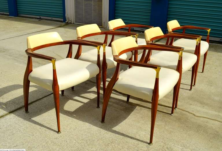 Bert England Sculptural Dining Chairs Set Of Six At 1stdibs
