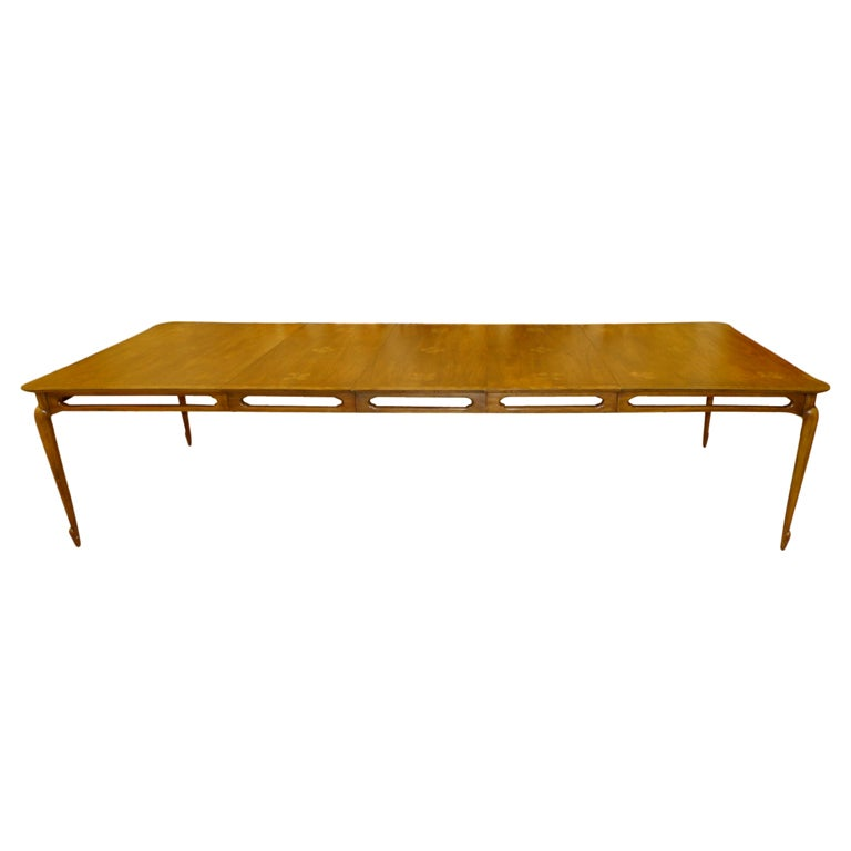 Mastercraft walnut dining table extra wide and long 10 for Extra small dining table