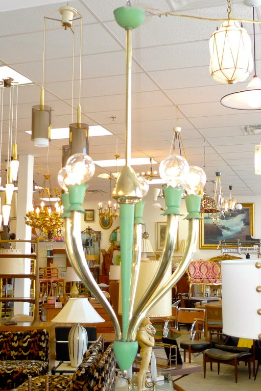 Italian Hanging Fixture Attributed to Guglielmo Ulrich For Sale 4