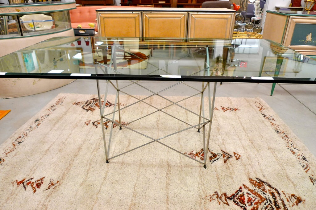 1970 S Pace Collection Chrome Scaffold Dining Table And