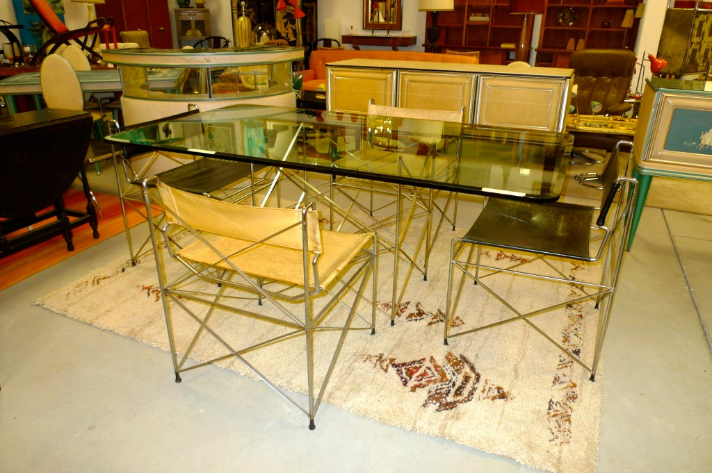 1970 39 s pace collection chrome scaffold dining table and for 1970 dining room set