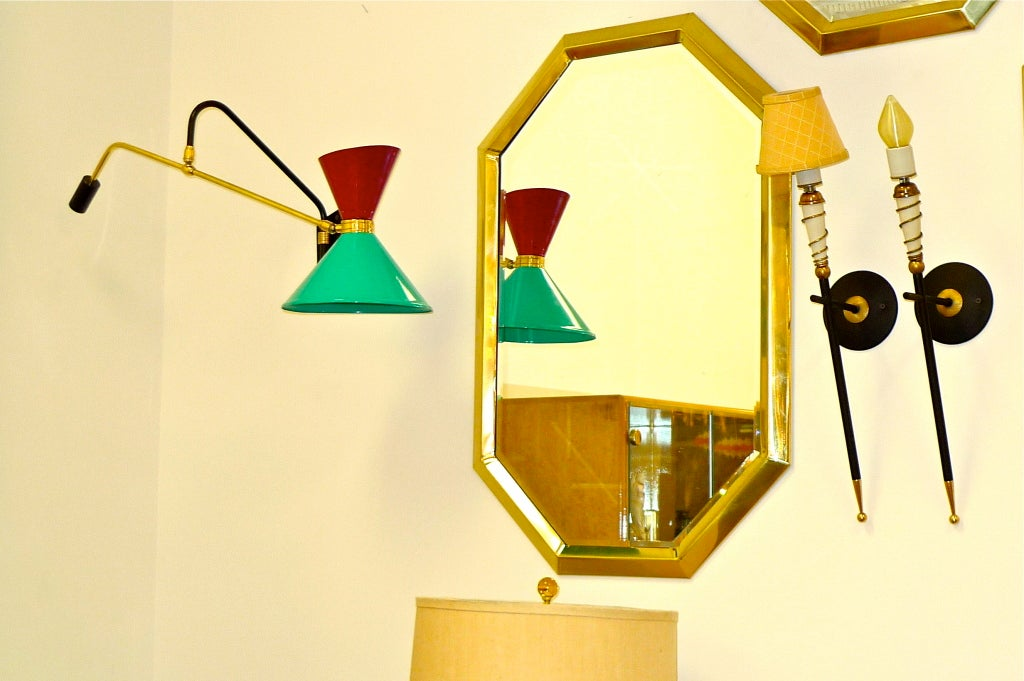 1950's French Swing Arm Sconce by Pierre Guariche For Sale 1