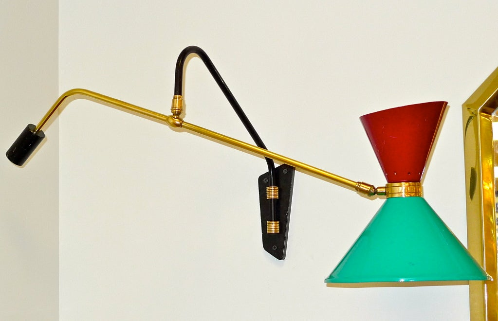1950's French Swing Arm Sconce by Pierre Guariche For Sale 3
