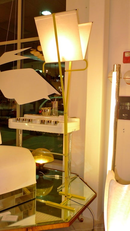 1980's Italian Yellow Enameled Floor Lamp attributed to Stilnovo ...