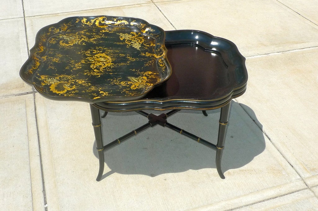 Regency Style Papier Mache Tray Table At 1stdibs