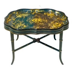 Regency style Papier Mache Tray Table