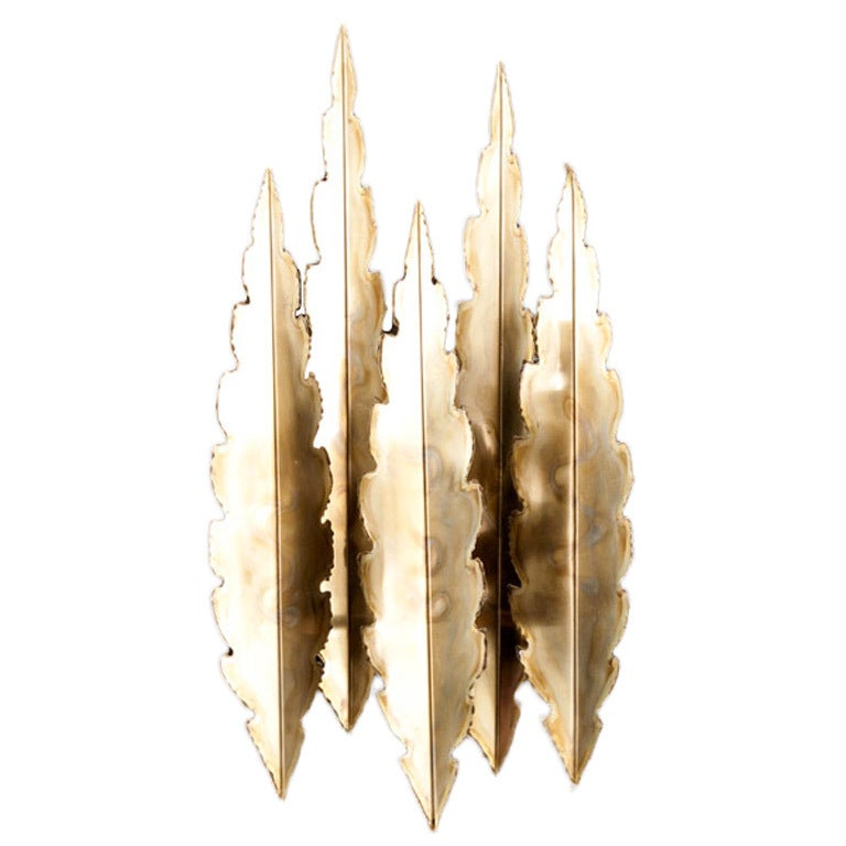 Brutalist Wall Light by Sven Aage Holm Sorensen