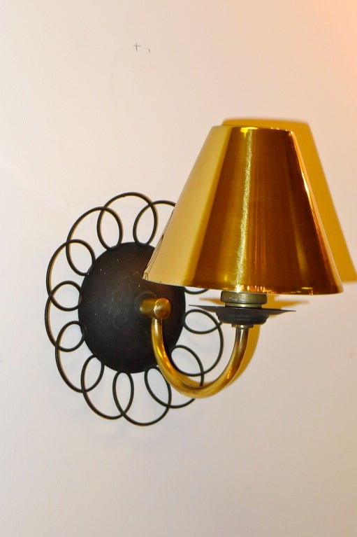 Two Pair of Petite French Wire & Brass Sconces After Royere 7