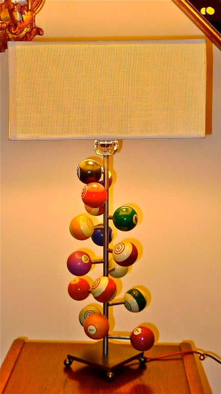Vintage Billiard Ball Table Lamp At 1stdibs