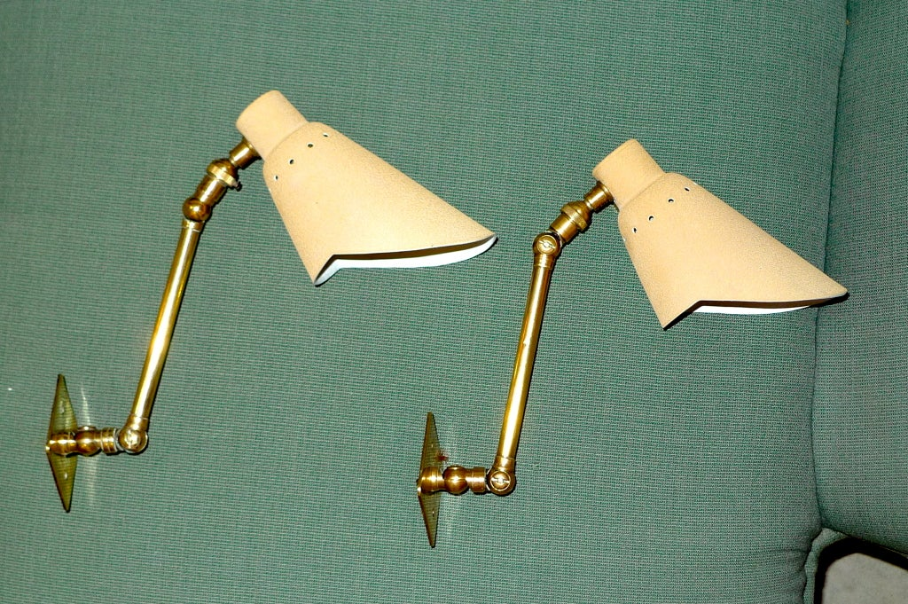 Pair of Articulating Wall Lights by Stilnovo 3