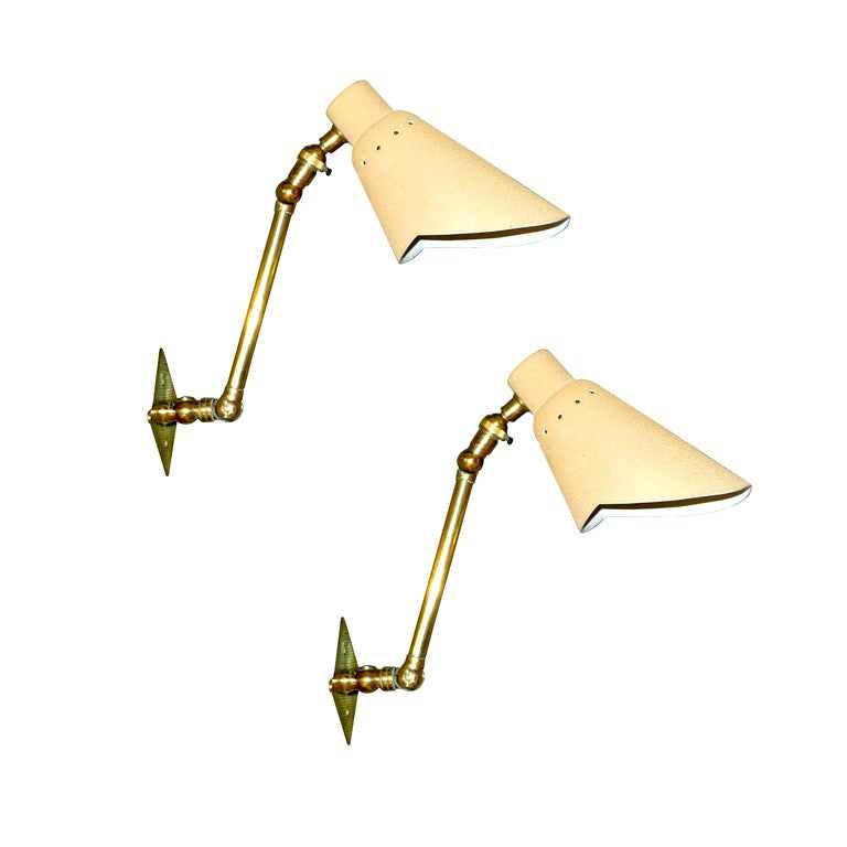 Pair of Articulating Wall Lights by Stilnovo 1