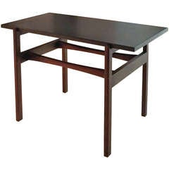Jens Risom Walnut Occasional Table with Slate Top