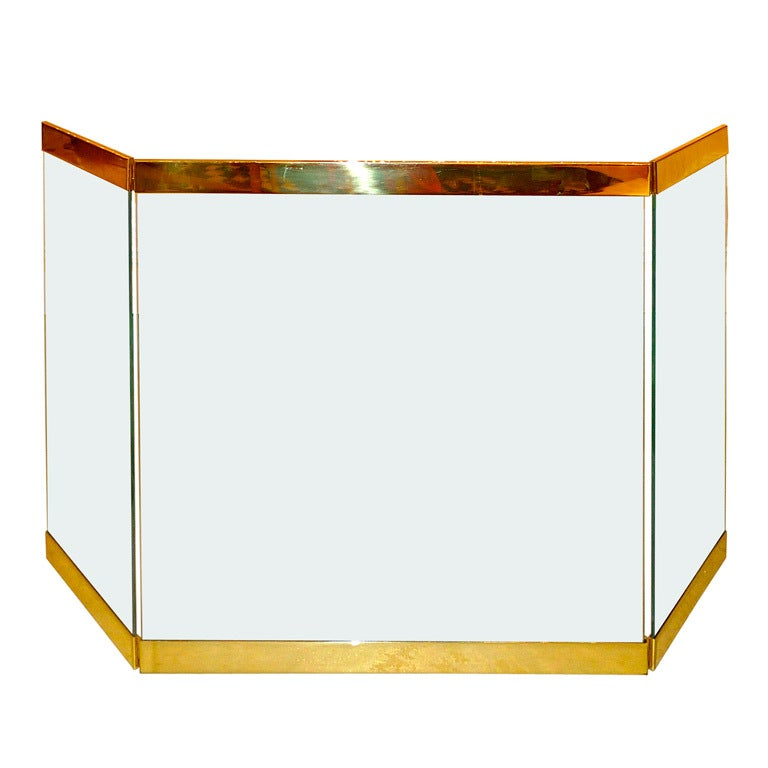 this glass brass fireplace screen is no longer available