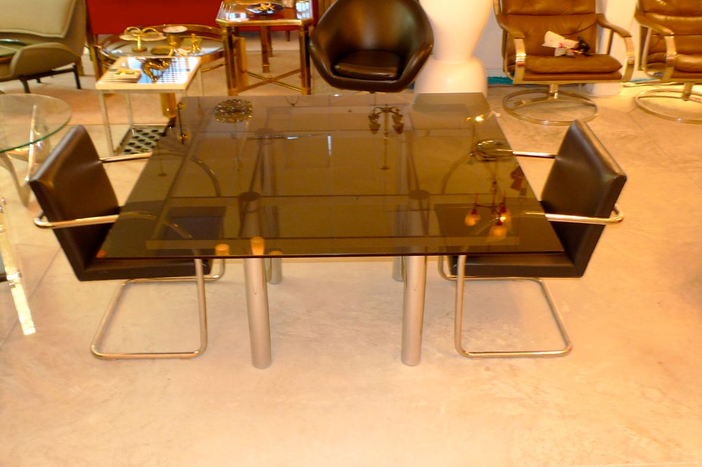 39 square dining table by tobia scarpa for knoll for sale at 1stdibs
