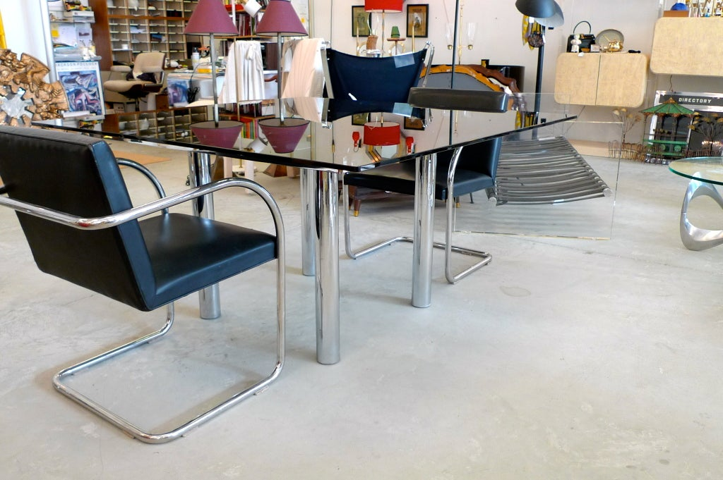 'Andre' Square Dining Table by Tobia Scarpa for Knoll For Sale 1
