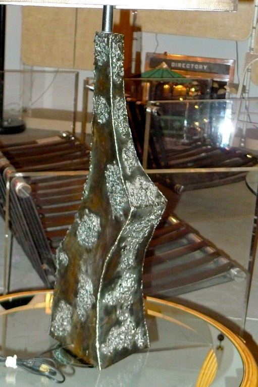 Marcello Fantoni Sculptural Metal Lamp For Sale 1