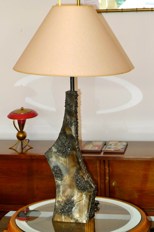 Marcello Fantoni Sculptural Metal Lamp For Sale 4