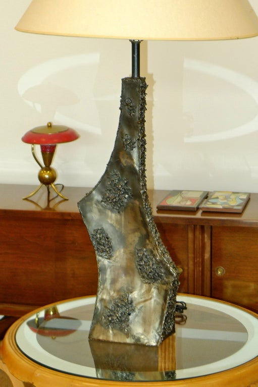 Marcello Fantoni Sculptural Metal Lamp For Sale 5