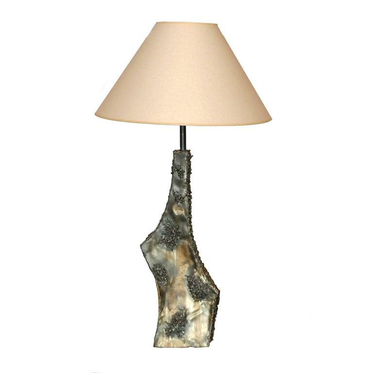 Marcello Fantoni Sculptural Metal Lamp For Sale