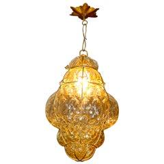 Vintage Murano Bubble Glass Cage Lantern
